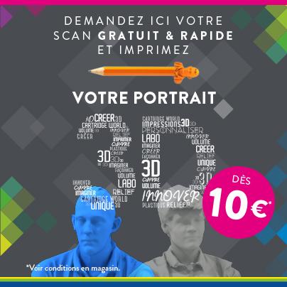 Votre portrait 3D